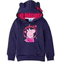 Peppa Pig Sudadera oficial de forro polar con capucha para niñas de 2 a 6 años