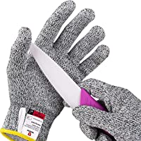 NoCry Cut Resistant Gloves for Kids, XS (8-12 Years) - High Performance Level 5 Protection, Food Grade. Free Ebook…