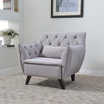 Modern Mid Century Chair   Tufted Design
