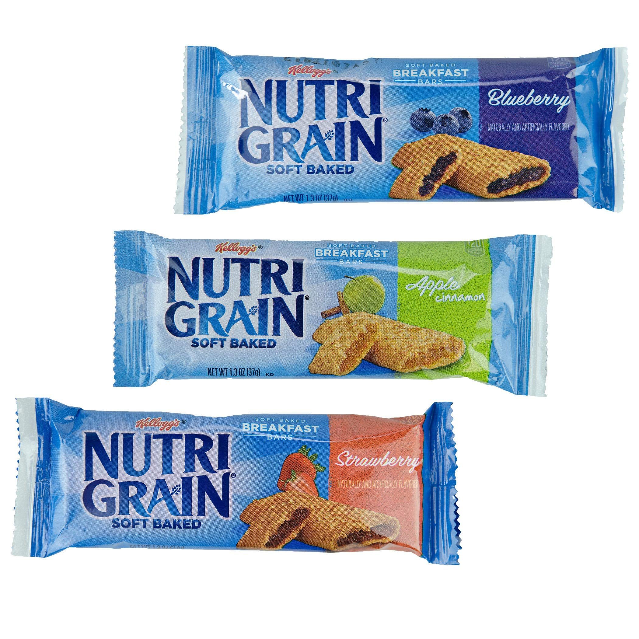 Kellogg's Nutri-Grain, Soft Baked Breakfast Bars, Assorted Pack, 1.3oz (48Count) by Nutri-Grain