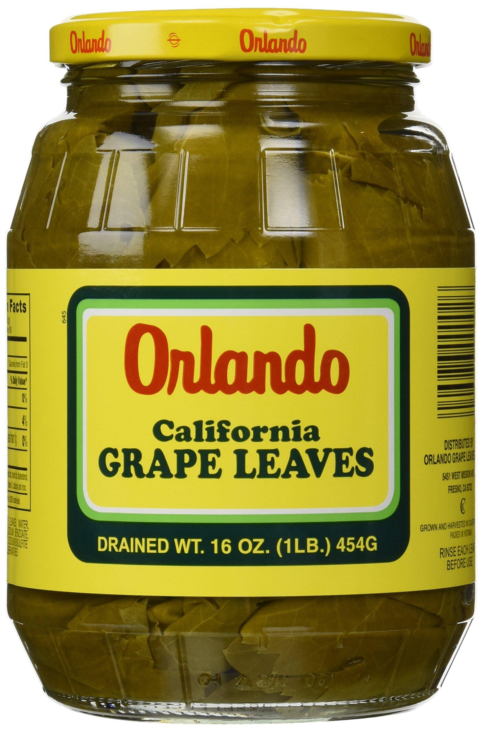 California Grape Leaves -Orlando 2lb jar, DR.WT. 16oz by Orlando