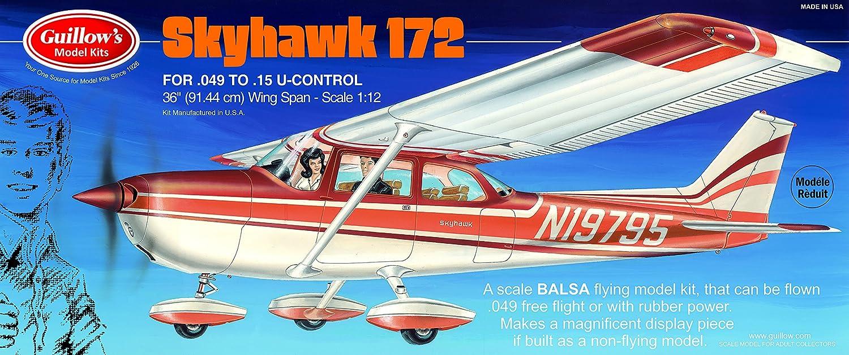 GUILLOW's Flying Cessna Skyhawk 172 802 Powerot Balsa Flying GUILLOW's Model Kit 0a6193