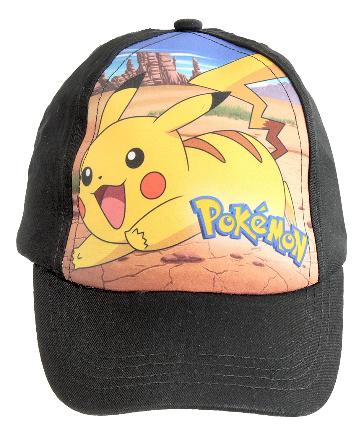 Pokemon Official Licensed Black Pikachu Design Baseball Cap Hat One Size 4-12 Years