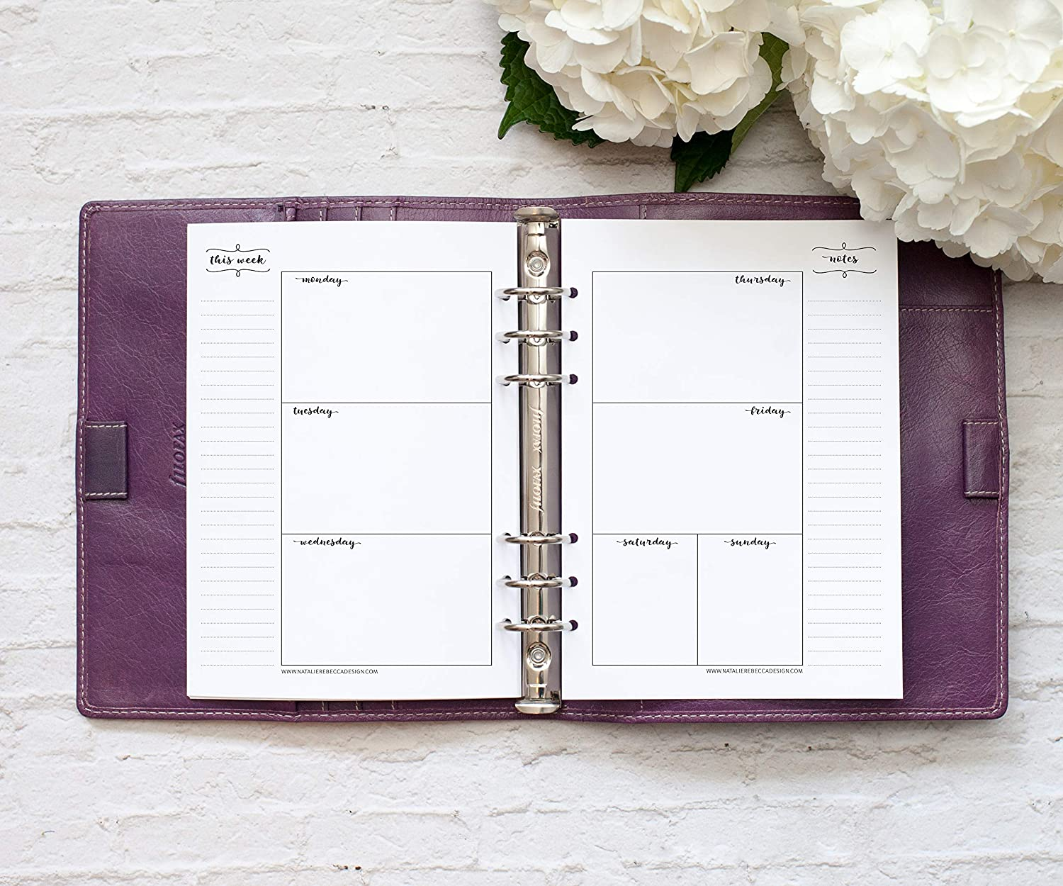 A5 Horizontal Undated Calendar 6 Month Supply Notebook Not Included 5.8x8.3