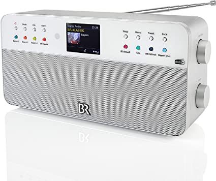 Dual Digitalradio 8 Speichertasten Fur Br Sender Fernbedienung Wecker Kopfhoreranschluss Farbdisplay Stereoklang Aux In Silber Br Radio 2 Stereo Amazon De Heimkino Tv Video