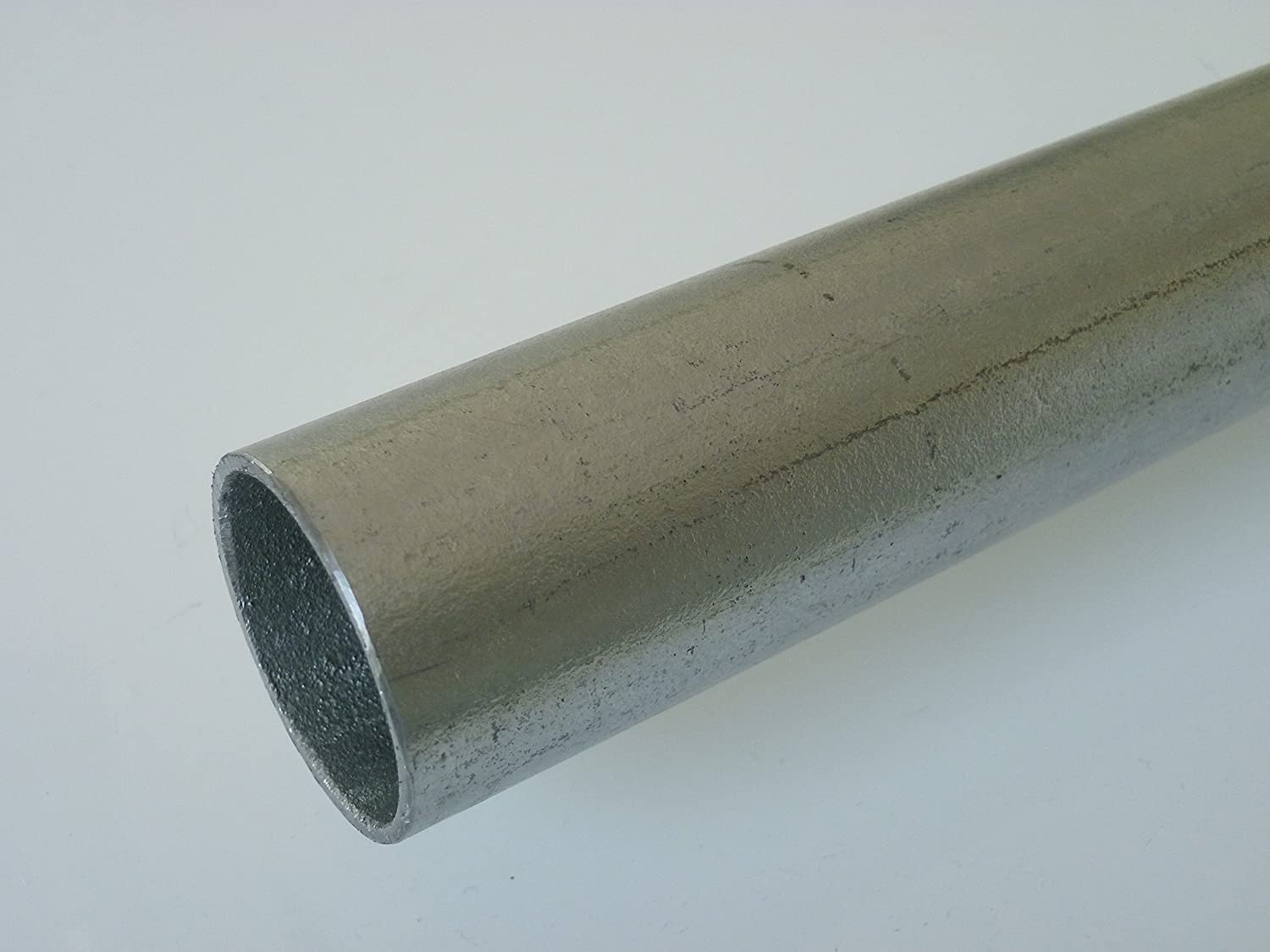 'B & D Metal Steel Round Tube Galvanised 26, 9 x 2.6 mm 3/4 Inch) in Length 1500 mm + 0/3 mm Tube ST37 Hollow Section Hot-dip Galvanised B&T