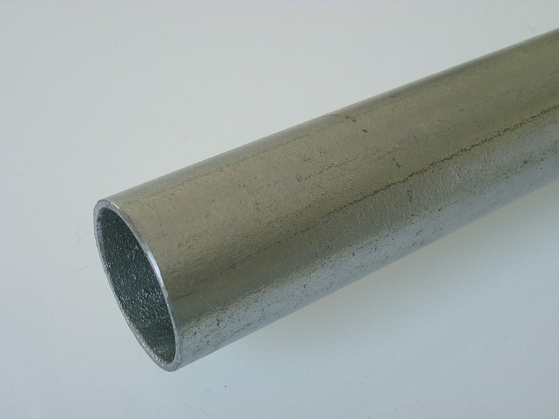 B/&T Metall Stahl Rundrohr verzinkt /Ø 60,3 x 3,6 mm L/änge ca Konstruktionsrohr ST 37 feuerverzinkt 1,0m Hohl-Profil 2