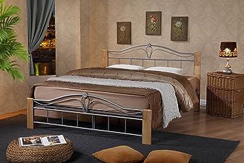 ROYALE COMFORT Thiago Lit Double en Bois de hêtre et Cadre de lit en ...