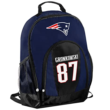 2f6825d77d9 Amazon.com : TBFC New England Patriots Official NFL Primetime Backpack Gym  Bag - Rob Gronkowski #87 : Sports & Outdoors