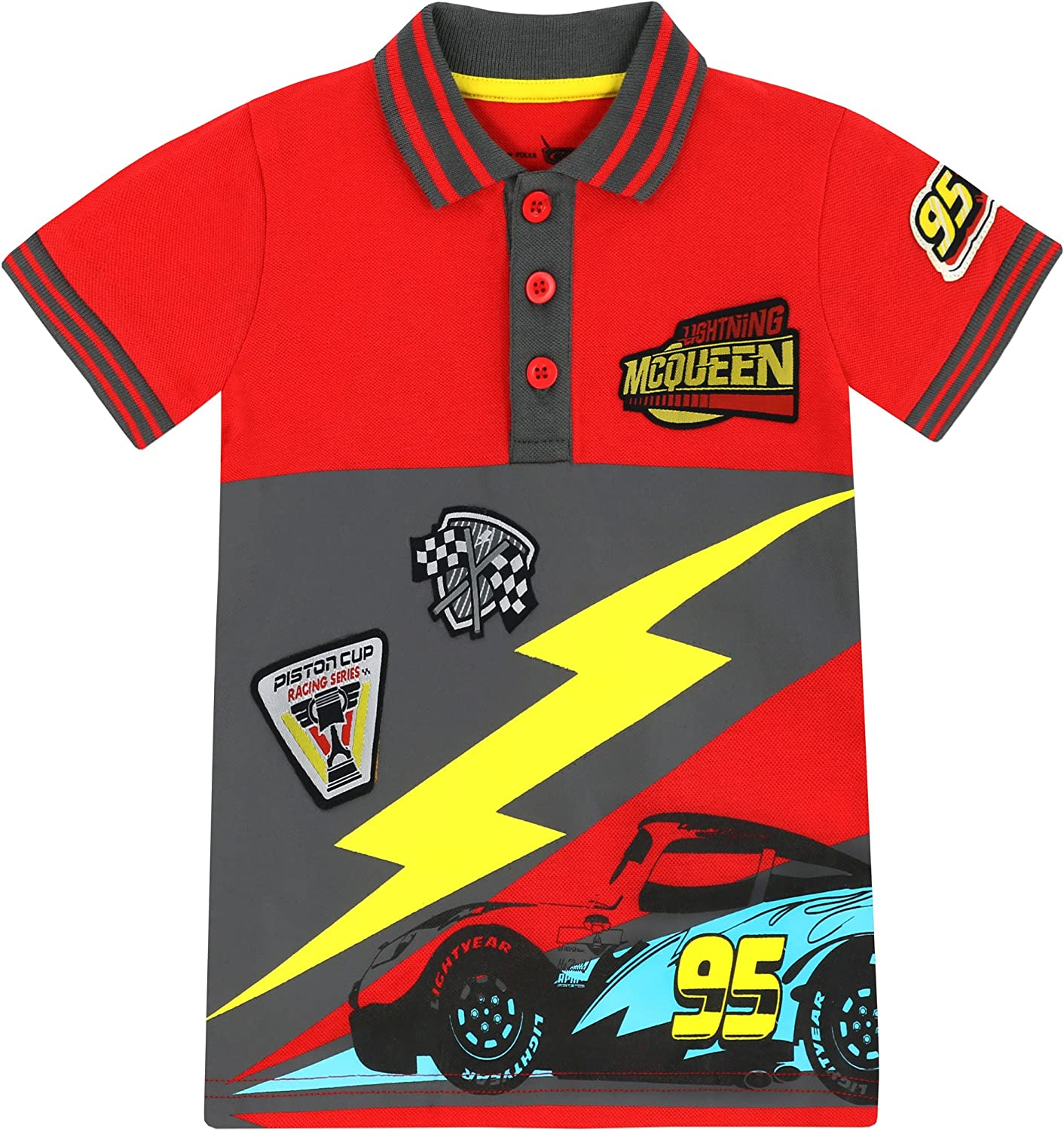 Disney Cars Boys Lightning McQueen Polo Shirt