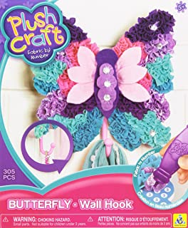 orb factory plushcraft butterfly wall hook plush craft fabric by number no sewing
