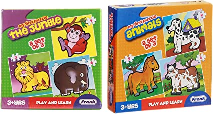 Frank the Jungle & Animals Puzzle Combo