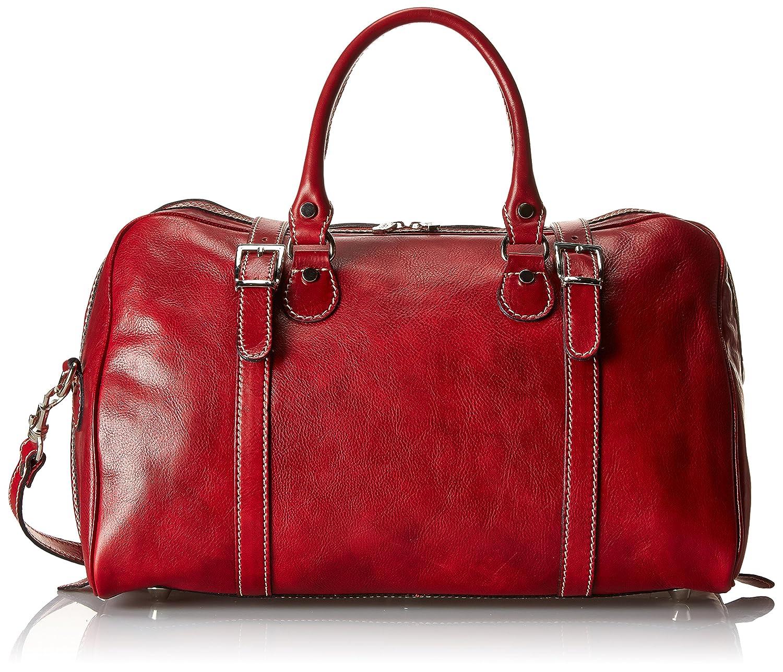Floto Luggage Trastevere Duffle In Weekender, Tuscan Red, Medium