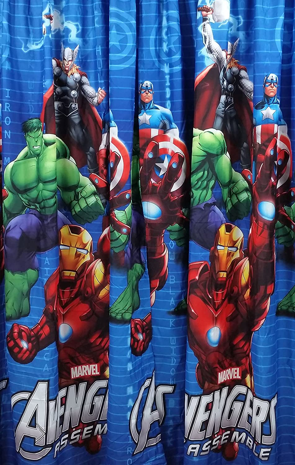Nice Avengers Marvel Assemble Window Panels Curtains Drapes Set Of 2: Amazon.ca:  Home U0026 Kitchen