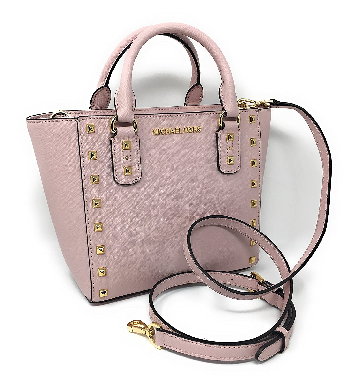 Michael Kors Sandrine Stud Small Leather Crossbody (Blossom