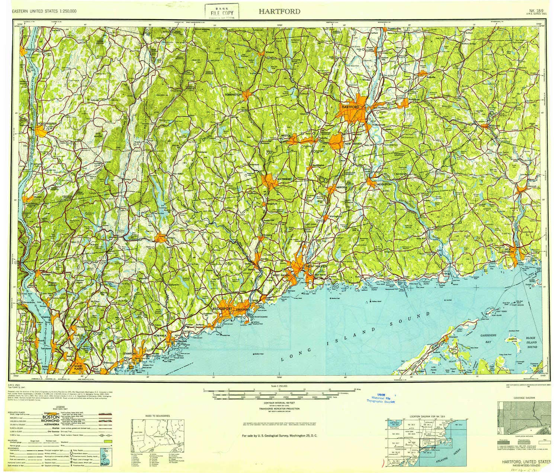 Topographic Map Ct.Amazon Com Yellowmaps Hartford Ct Topo Map 1 250000 Scale 1 X 2