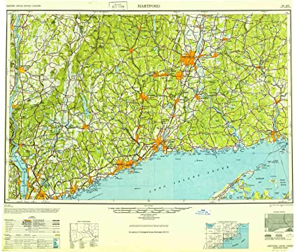 Amazon.com : YellowMaps Hartford CT topo map, 1:250000 Scale, 1 X 2 ...