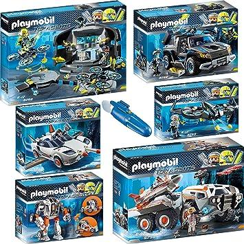 Playmobil 9250_55-5159 Set 1 Top Agents - 7 juegos - 9250 + 9251 + 9252 + 9253 + 9254 + 9255 + 5159: Amazon.es: Juguetes y juegos