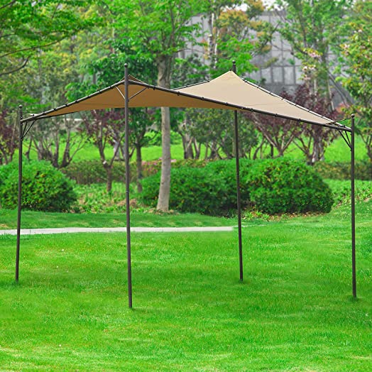 SoBuyR OSS01 Freestanding Canopy Gazebo Awning Outdoor Garden Marquee Shelter Metal Frame With Cover