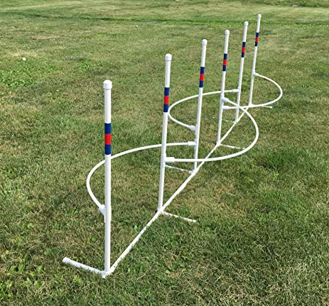 Dog agility equipment weave poles with guide wires | ebay.