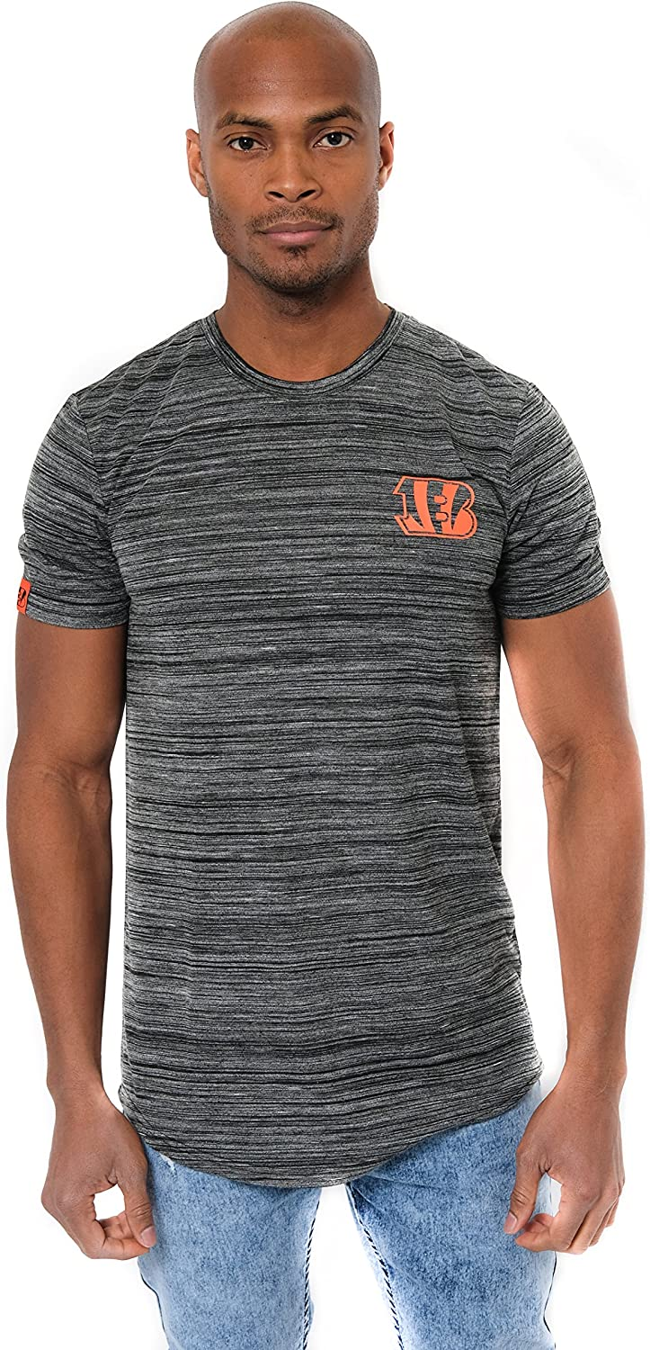Ultra Game NFL Mens Active Basic Space Dye Tee Shirt