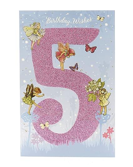 Tarjeta de cumpleaños para niñas de 5 años con diseño de ...