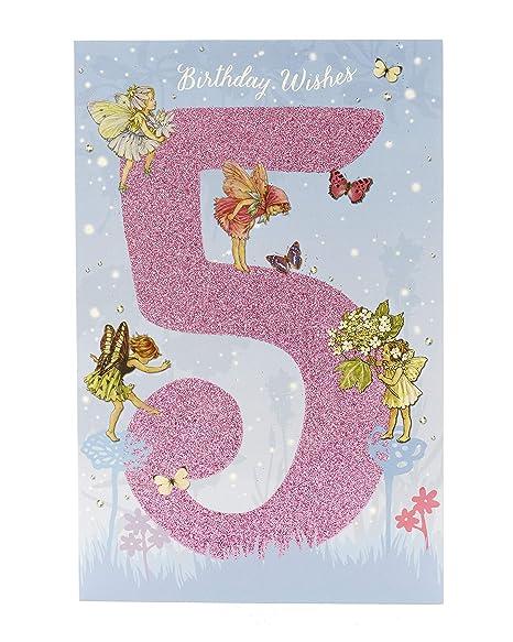 Amazon.com : Flower Fairies Age 5 Girls Birthday Card ...