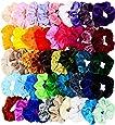 RainbowBaby 60 Pcs Hair Scrunchies Velvet Elastics Bobbles Hair Bands Scrunchy Hair Tie Ropes Scrunchie for Women Girls Hair Accessories