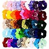 Chloven 45 Pcs Hair Scrunchies Velvet Elastics Hair Bands Scrunchy Hair Tie Ropes Scrunchie for Women Girls Hair…
