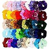 Chloven 45 Pcs Hair Scrunchies Velvet Elastics Hair Bands Scrunchy Hair Tie Ropes Scrunchie for Women Girls Hair Accessories