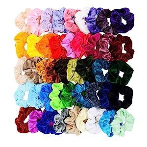 Chloven 45 Pcs Hair Scrunchies Velvet Elastics Hair Bands Scrunchy Hair Tie Ropes Scrunchie for Women Girls Hair Accessories- Gift for ThanksgivingDay and Christmas