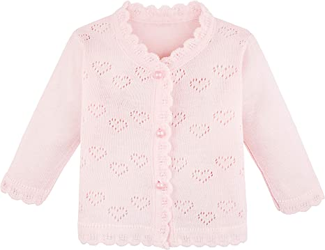 Eyiou Infant Baby Fall Winter Cardigan Sweaters Cute Baby Girl Solid Color Knitted Cardigan Sweater