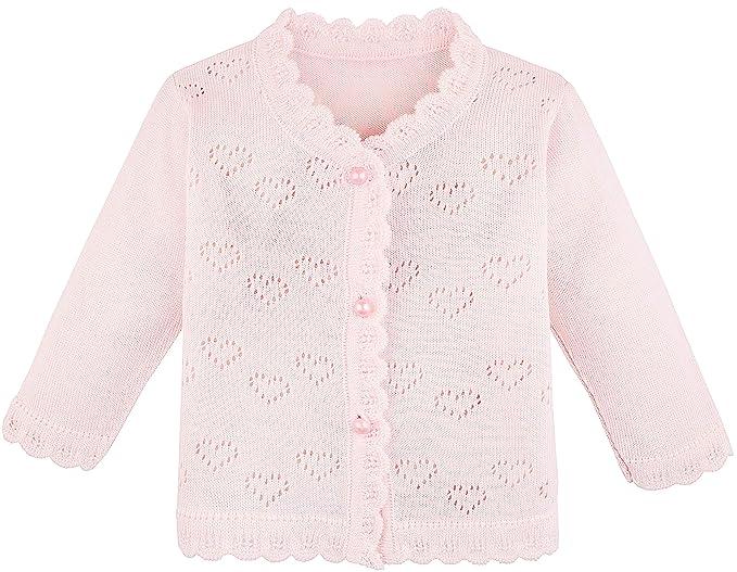 611f8e650cd181 Amazon.com: Lilax Baby Girls' Little Hearts Knit Cardigan Sweater ...