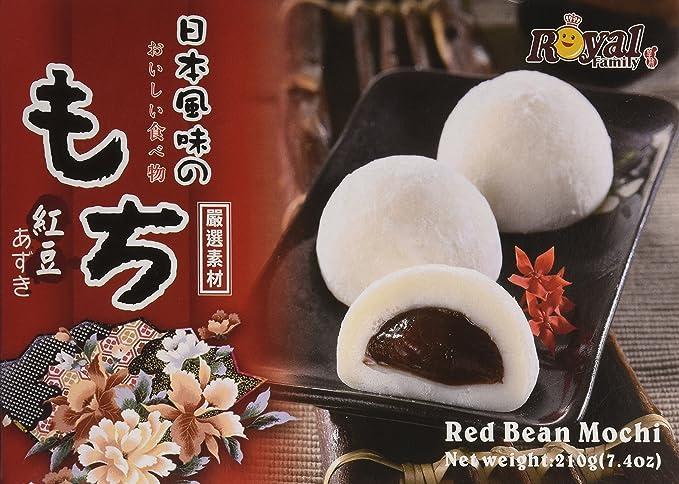 Royal Family Japanese Rice Cake Mochi Daifuku (Red Bean), 7.4 Ounce