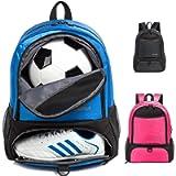 Tindecokin Youth Soccer Bag - Soccer Bags Basketball Bag Football & Volleyball & Handball Backpack Training Package