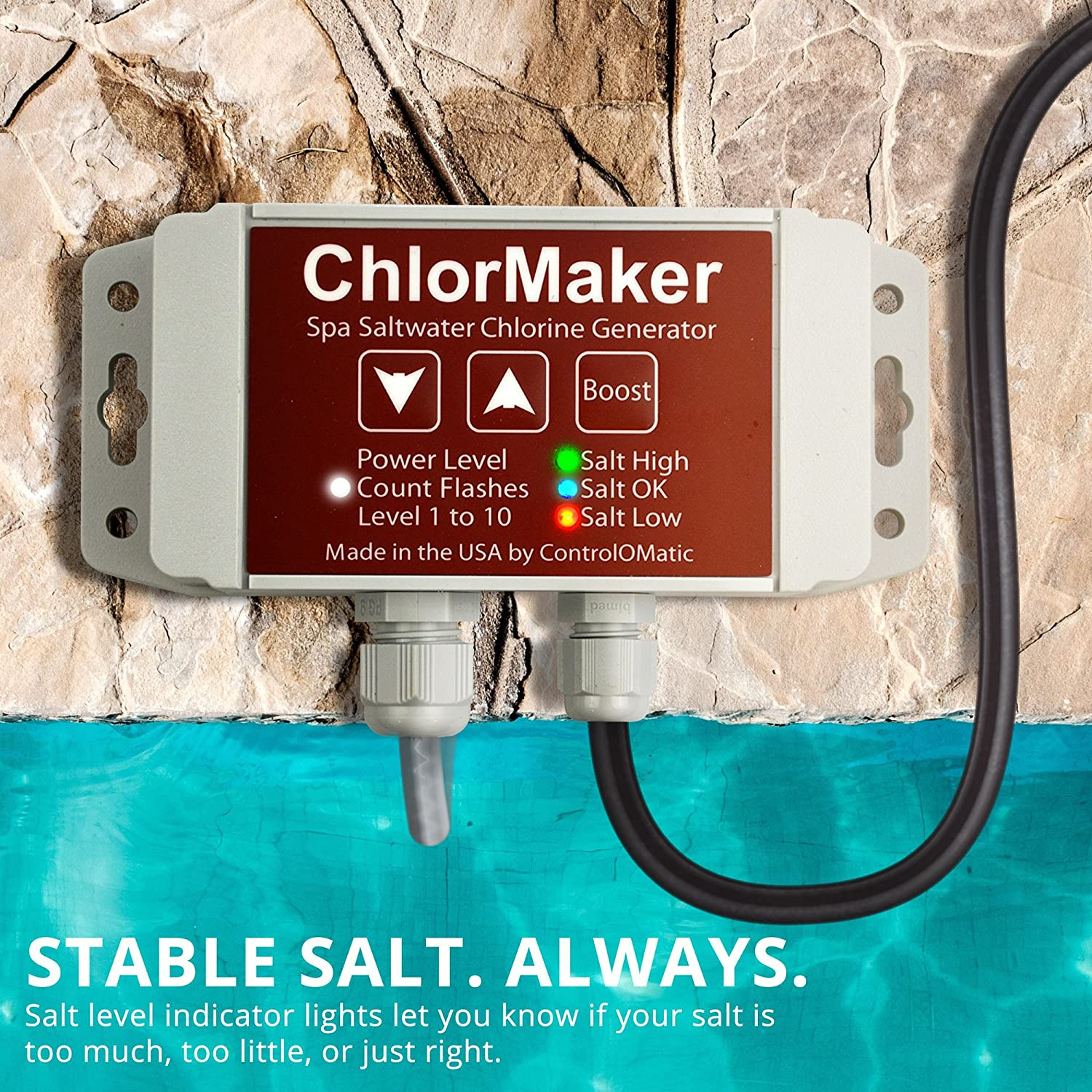 Controlomatic Chlormaker Saltwater Chlorine Generation Regulations For Wiring Up A Hot Tub System Pools Tubs And Spas To 1 000 Gallons 30 Gram Maximum Daily