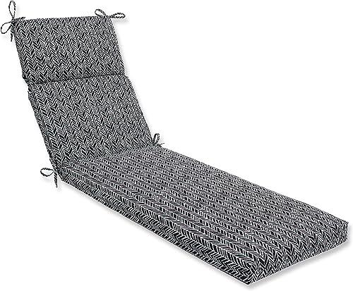 Pillow Perfect Outdoor/Indoor Herringbone Night Chaise Lounge Cushion