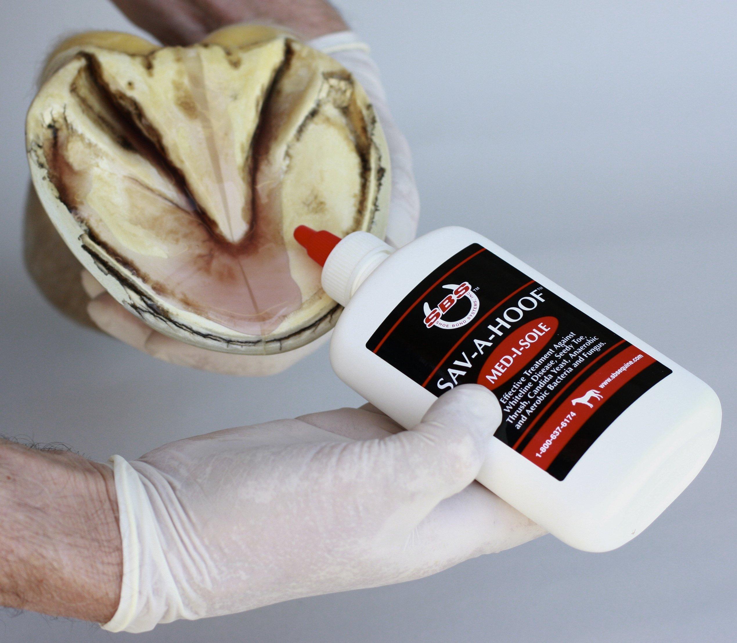 SBS Equine Item 310 hoof Treatment, 10 oz Squeeze Bottle by SBS EQUINE Sav-A-Hoof Med-i-sole, Item 310, 10 oz gel
