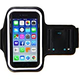 iPhone 8 7 6 6S Armband - Running & Exercise Sportband (4.7-inch) with Fingerprint Touch, Key Holder & Reflective Band (Black)