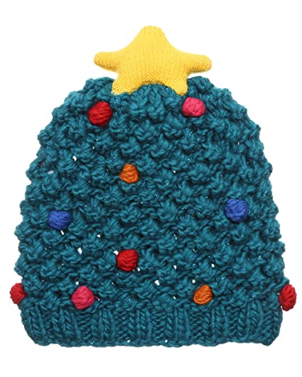 e9f7be9cf9a MIRMARU Christmas Holiday Fashion Collections Winter Knitted Pom Pom Beanie  Hat.(1099-Christmas