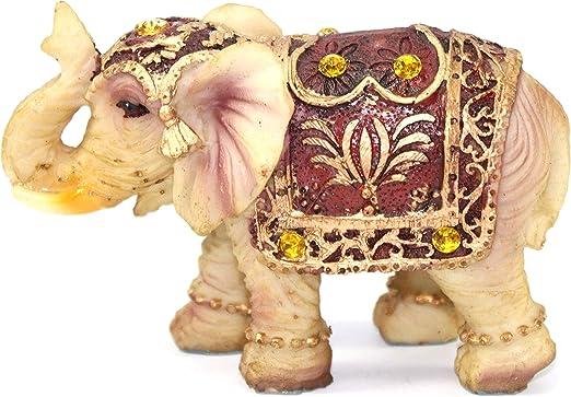 Amazon Com Feng Shui Vintage 3 H Elephant Wealth Lucky Figurine Home Decor Housewarming Gift Home Kitchen