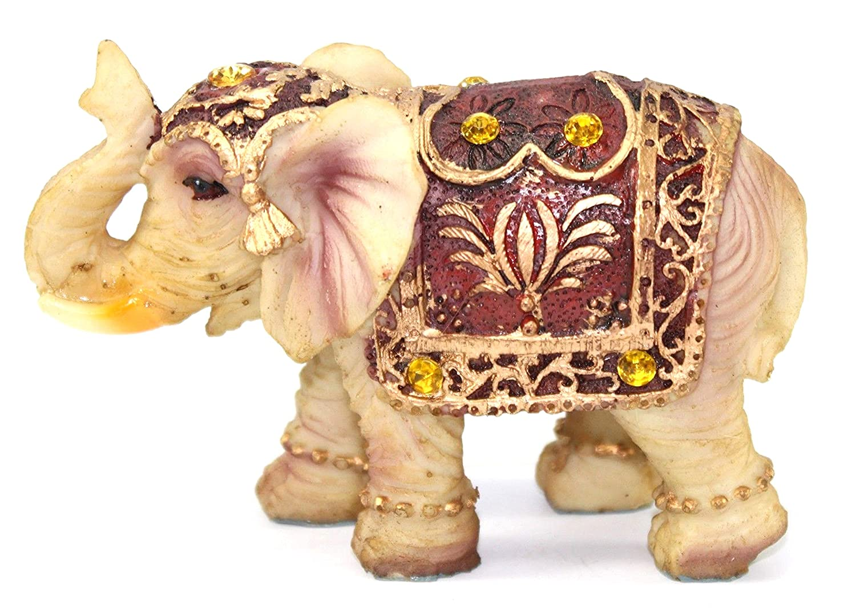 Feng Shui 3 Vintage Goodluck Elephant Trunk Statue Lucky