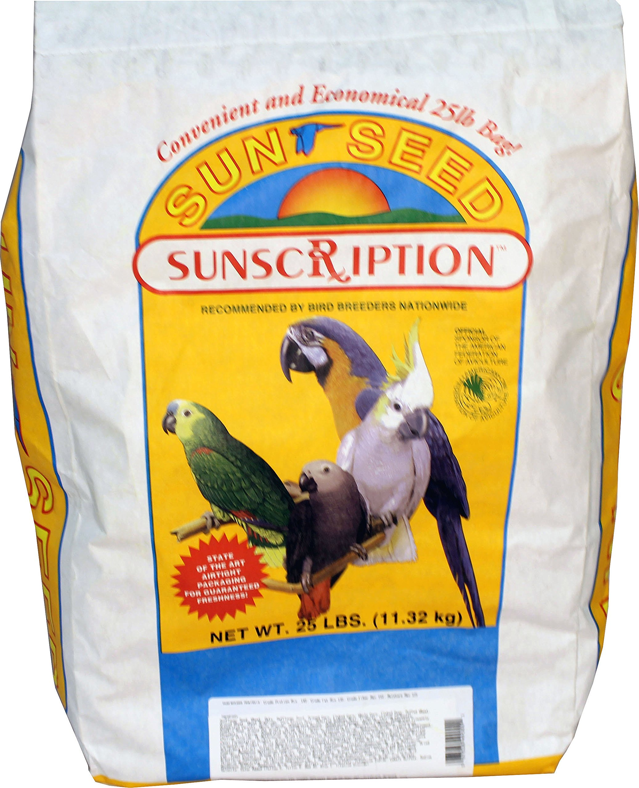 Sun Seed Company Vita Plus Parrot 25lb by Sunseed Sunscription