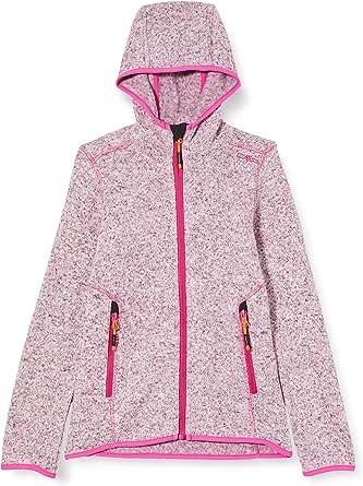 CMP Knit Tech Mélange Fleece Jacket With Hood - Chaqueta para niña