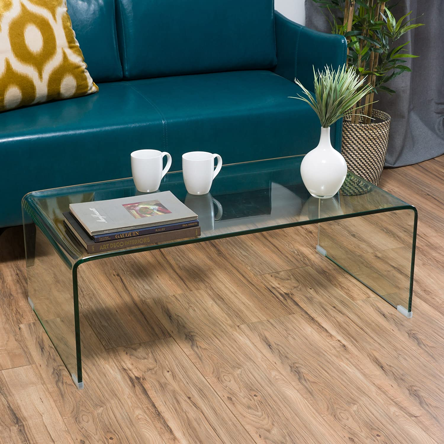 Amazon Classon Glass Rectangle Coffee Table Kitchen & Dining