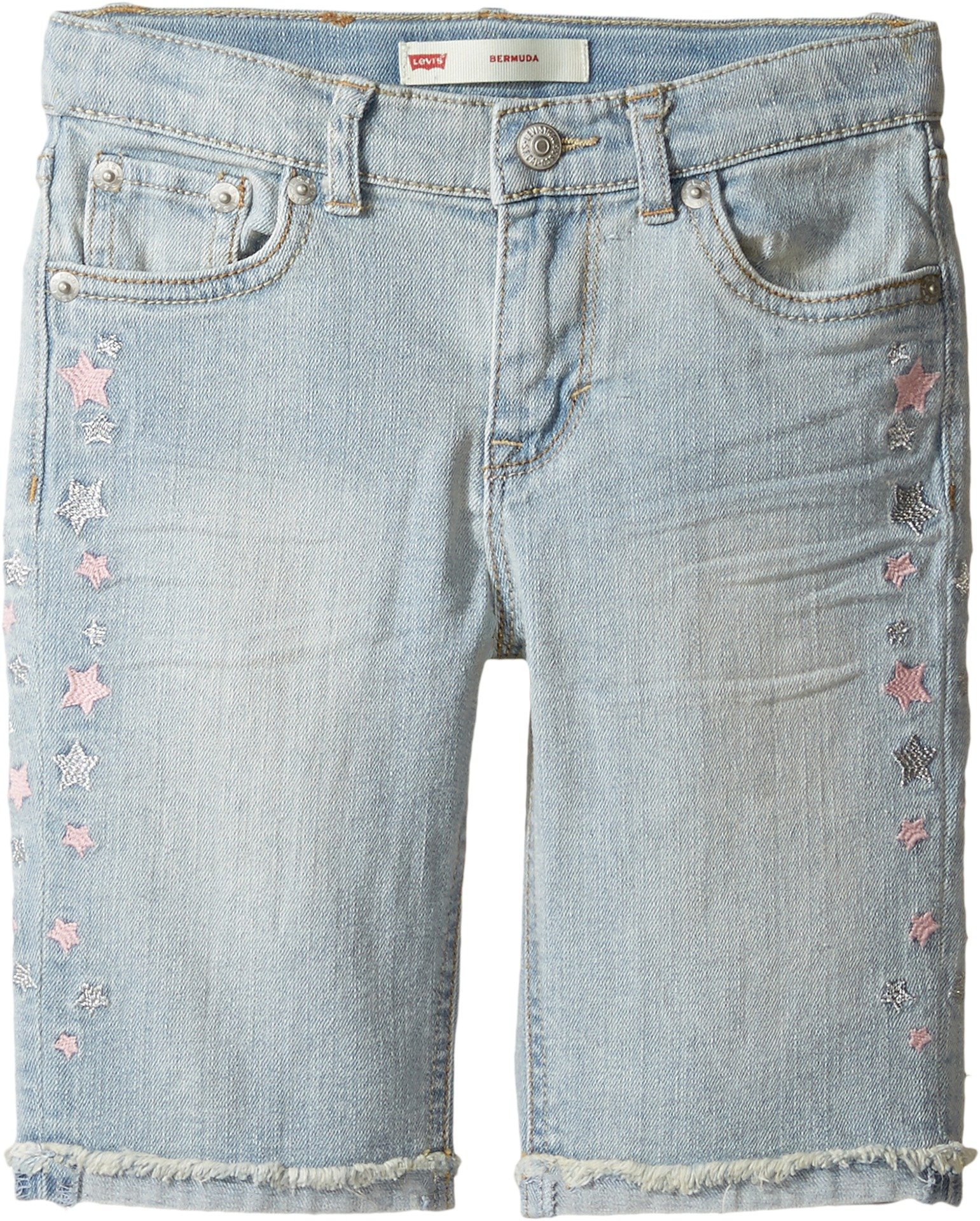 Levi's Kids Girl's Sideseam Bermuda Shorts (Little Kids) Ultra Light Shorts