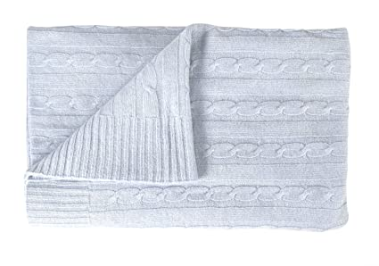 Amazon Couture Home Collection Cozy And Warm Classic Cable Knit Interesting Periwinkle Throw Blanket