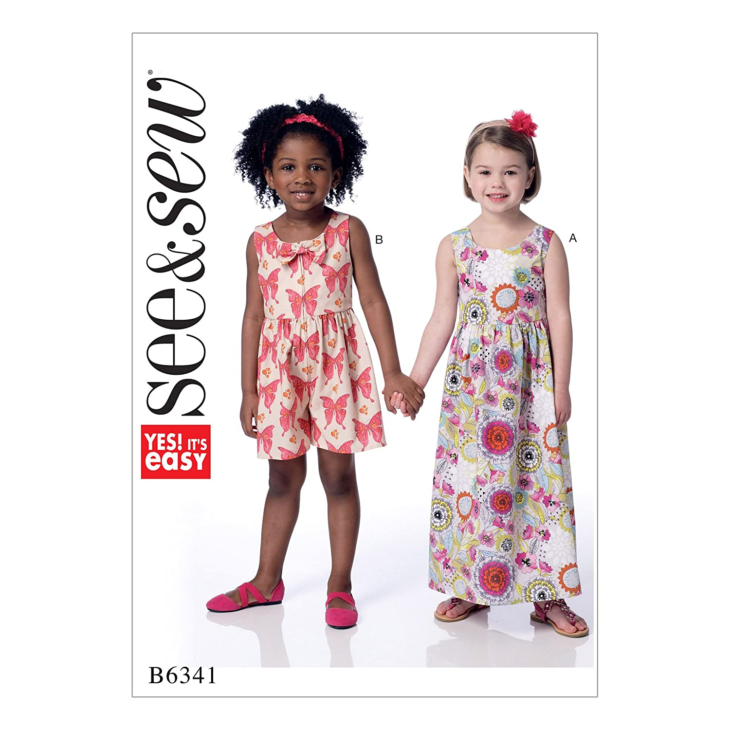 Butterick Patterns 6341 A Children's/Girls Dress and Culottes Sewing Pattern, Sizes 2-8 The McCall Pattern Company 6341A