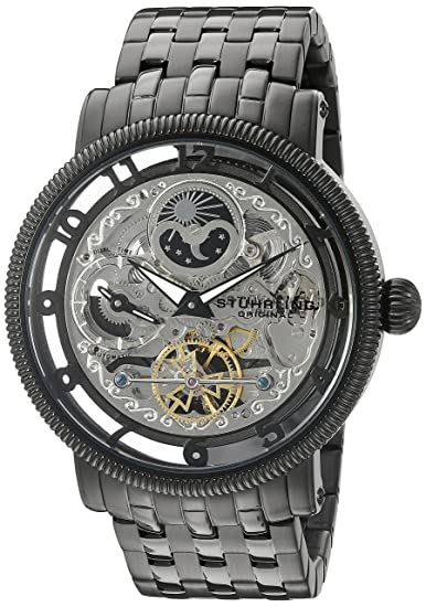 Stührling Original 411.335B1 - Reloj analógico para Hombre, Correa de Acero Inoxidable, Color Negro: Amazon.es: Relojes