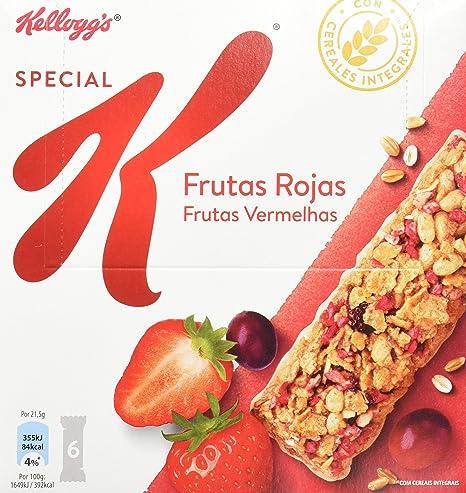 Kelloggs Special K Frutos rojos Barritas - Paquetes de 6 x ...